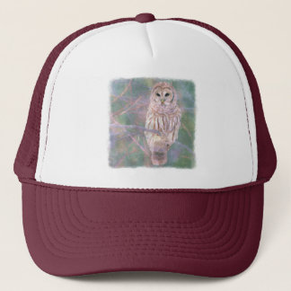 Barred Owl Pastel Oilpainting Trucker Hat