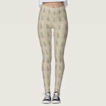 Barred Owl Patterned Leggings