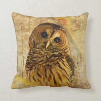 Barred Owl Pillow by Lois Bryan