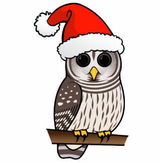 Barred Owl Santa Cutout