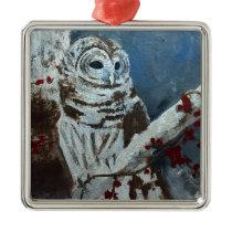 Barred Owl Square Ornament