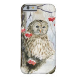 Barred Owl watercolor painting Barely There iPhone 6 Case
