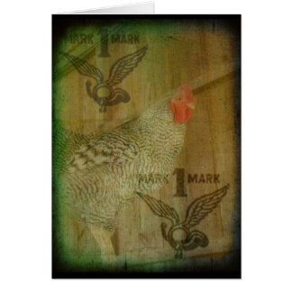 Barred Rock Rooster Trademark Card