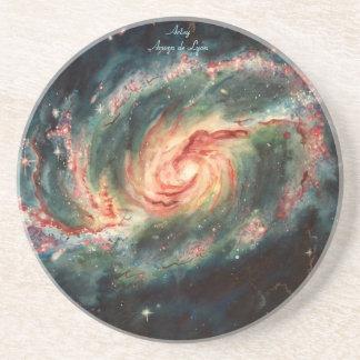 Barred Spiral Galaxy Beverage Coasters
