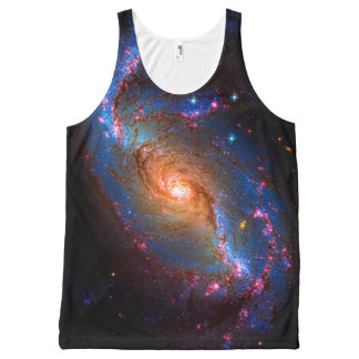Barred Spiral Galaxy - Deep space star picture All-Over-Print Tank Top