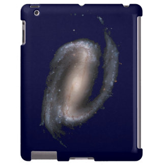 Barred Spiral Galaxy Glowing Space Dark Blue