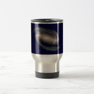 Barred Spiral Galaxy Glowing Space Dark Blue Travel Mug