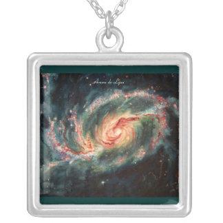 Barred Spiral Galaxy Custom Necklace