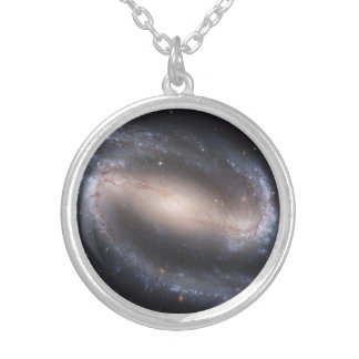 Barred Spiral Galaxy Pendant