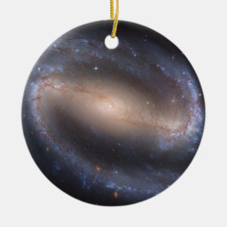 Barred Spiral Galaxy NGC 1300 Double-Sided Ceramic Round Christmas Ornament