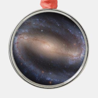 Barred Spiral Galaxy NGC 1300 Round Metal Christmas Ornament
