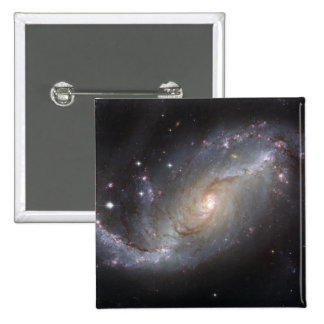 Barred Spiral Galaxy NGC 1672 2 Inch Square Button