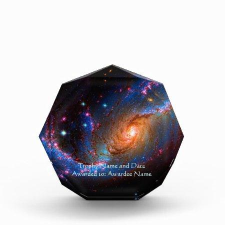 Barred Spiral Galaxy NGC 1672 Acrylic Award