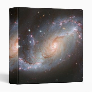 Barred spiral galaxy, NGC 1672 3 Ring Binders