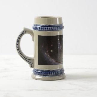 Barred Spiral Galaxy NGC 1672 Constellation Dorado Beer Stein