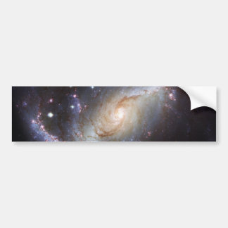 Barred Spiral Galaxy NGC 1672 Constellation Dorado Car Bumper Sticker