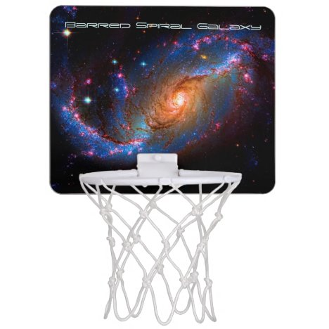 Barred Spiral Galaxy NGC 1672 outer space picture Mini Basketball Hoop