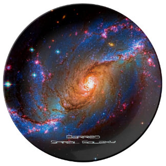 Barred Spiral Galaxy NGC 1672 Porcelain Plate