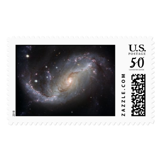 Barred Spiral Galaxy NGC 1672 Postage