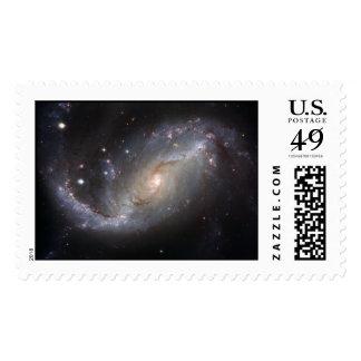 Barred Spiral Galaxy NGC 1672 Postage