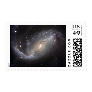 Barred Spiral Galaxy NGC 1672 Postage Stamp