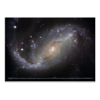 Barred Spiral Galaxy NGC 1672 Poster