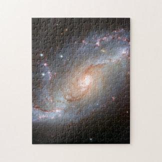 Barred spiral galaxy, NGC 1672 Jigsaw Puzzle