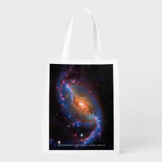 Barred Spiral Galaxy NGC 1672 Reusable Grocery Bag