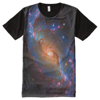 Barred Spiral Galaxy - Outer space picture All-Over Print T-shirt