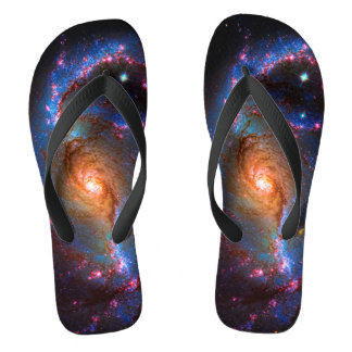 Barred Spiral Galaxy - Outer Space Star Picture Flip Flops