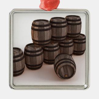 barrel-37304 adorno navideño cuadrado de metal
