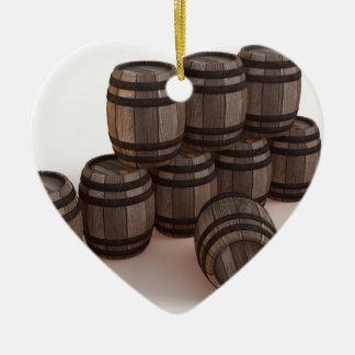 barrel-37304 adorno navideño de cerámica en forma de corazón