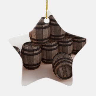 barrel-37304 adorno navideño de cerámica en forma de estrella