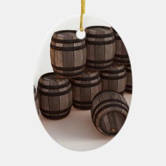 barrel-37304 adorno navideño ovalado de cerámica
