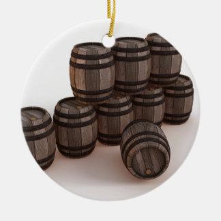 barrel-37304 adorno navideño redondo de cerámica