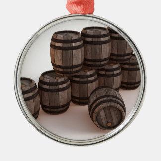 barrel-37304 adorno navideño redondo de metal