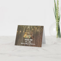 Barrel and Cowboy Boots Country Wedding Thank You