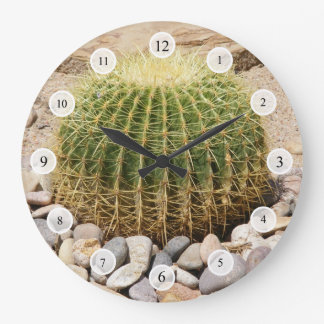 Barrel Cactus Clock
