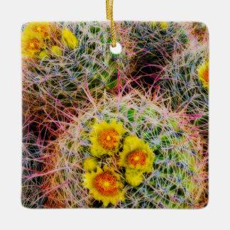 Barrel cactus close up, California Ceramic Ornament