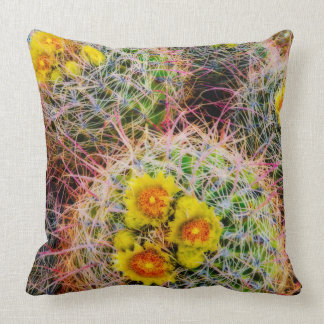 Barrel cactus close up, California Throw Pillow