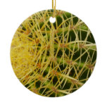 Barrel Cactus Closeup Nature Design Ceramic Ornament
