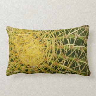 Barrel Cactus Closeup Nature Pattern Photo Lumbar Pillow