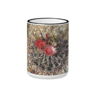 Barrel Cactus Fishhook Red Ringer Mug