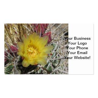 Barrel Cactus Fishhook Yellow Business Card