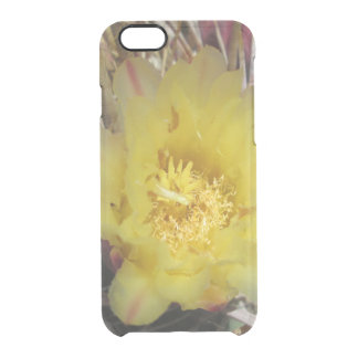 Barrel Cactus Fishhook Yellow Clear iPhone 6/6S Case
