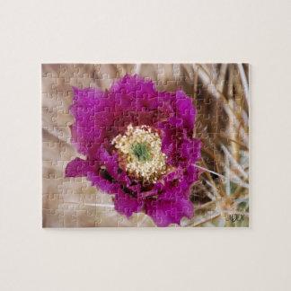 Barrel Cactus Flower Puzzle