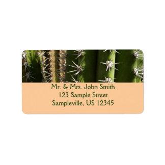 Barrel Cactus II Desert Nature Photo Label