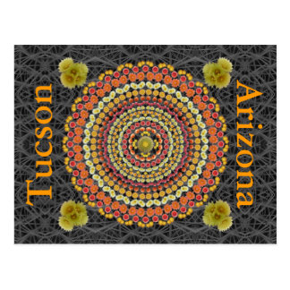 Barrel Cactus Mandala 2 as a Postcard
