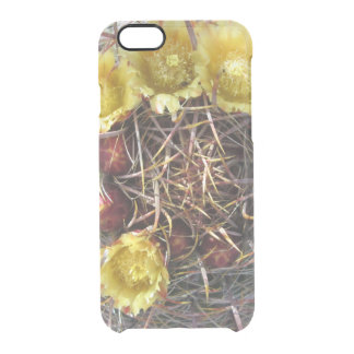Barrel Cactus Plant Fishhook Yellow Clear iPhone 6/6S Case