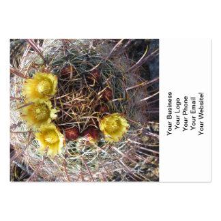 Barrel Cactus Plant Fishhook Yellow Large Business Card